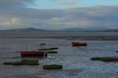 Barcos encalhados Imagens de Stock Royalty Free