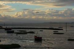 Barcos encalhados Fotografia de Stock