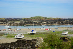 Barcos encalhados maré baixa (1) Imagens de Stock