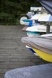 Barcos entrados fotografia de stock royalty free
