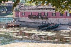 Barcos especiais no rio Adda Imagens de Stock Royalty Free