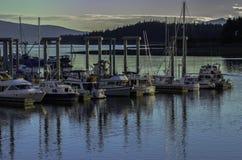 Barcos a finales del día Foto de archivo libre de regalías