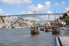 Barcos geen Douro Stock Foto's