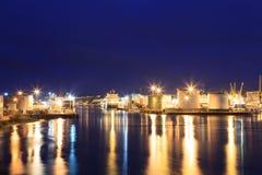 Barcos grandes de la fuente en el puerto de Aberdeen el 27 de enero de 2016 Imágenes de archivo libres de regalías