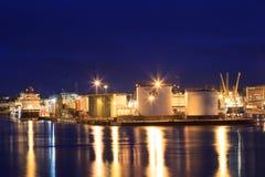 Barcos grandes de la fuente en el puerto de Aberdeen el 27 de enero de 2016 Fotografía de archivo libre de regalías