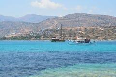 Barcos gregos fotografia de stock