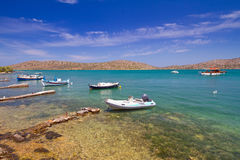 Barcos en la costa de Creta Fotografía de archivo