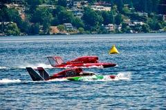 Barcos hidráulicos de la raza Imagen de archivo