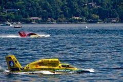 Barcos hidráulicos ilimitados de la raza Fotos de archivo libres de regalías