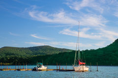 Barcos Hudson River NY Imágenes de archivo libres de regalías