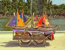 Barcos, juguetes de madera foto de archivo