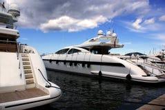 barcos luxuosos Fotografia de Stock Royalty Free