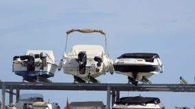 Barcos a motor no porto de Malaga-Andaluzia-Europa Imagens de Stock