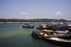 Barcos, Myanmar Imagens de Stock Royalty Free
