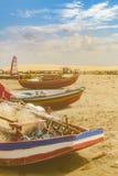 Barcos na areia na praia de Jericoacoara Brasil Imagem de Stock Royalty Free