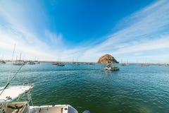 Barcos na baía de Morro Imagens de Stock Royalty Free