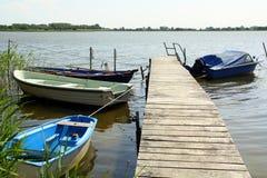 Barcos na baía Rugen Fotografia de Stock Royalty Free