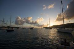 Barcos na boia fotografia de stock