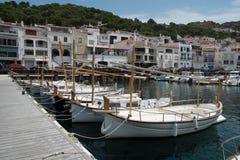 Barcos na cidade do porto. Fotografia de Stock Royalty Free
