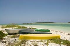 Barcos na costa Imagens de Stock