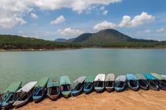 Barcos na costa Foto de Stock