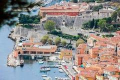 Barcos na costa azul em france agradável Fotos de Stock