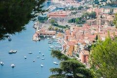 Barcos na costa azul em france agradável Fotos de Stock Royalty Free