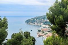 Barcos na costa azul em france agradável Foto de Stock Royalty Free