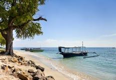 Barcos na costa azure Fotografia de Stock