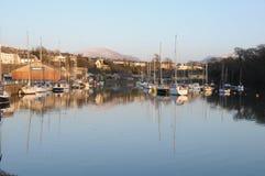 Barcos na costa de Gales Fotografia de Stock Royalty Free