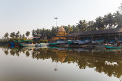 Barcos na costa de Goa Foto de Stock