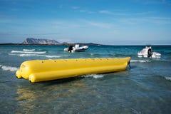 Barcos na costa de Sardinia Fotografia de Stock Royalty Free