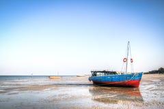 Barcos na costa de Vilanculos Imagem de Stock Royalty Free