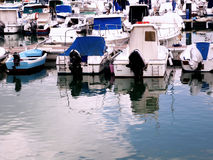 Barcos na costa do capital de Cadiz Imagens de Stock Royalty Free