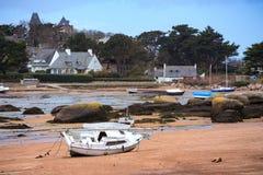 Barcos na maré baixa Foto de Stock