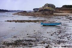 Barcos na maré baixa Fotos de Stock Royalty Free
