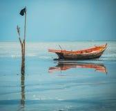 Barcos na maré baixa Fotos de Stock