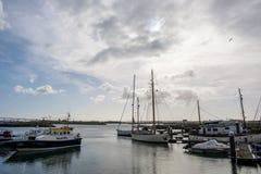 Barcos Na Marina Figueira da Foz Stockbild