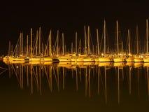 Barcos na noite Fotografia de Stock
