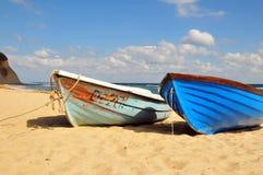 Barcos na praia Fotos de Stock