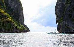 Barcos na praia do EL Nido, Filipinas Fotos de Stock