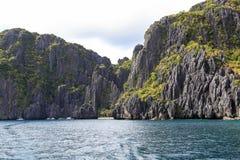 Barcos na praia do EL Nido, Filipinas Imagem de Stock