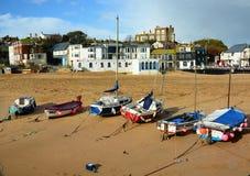 Barcos na praia Reino Unido de Broadstairs Fotos de Stock Royalty Free