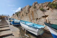 Barcos na rua Fotos de Stock Royalty Free