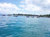 Barcos na tradição no mar Fotografia de Stock