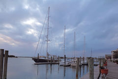 Barcos nas docas em Beaufort, North Carolina foto de stock royalty free