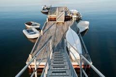 Barcos no amanhecer Imagem de Stock