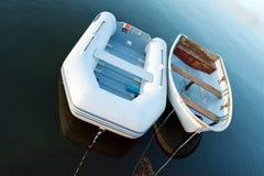 Barcos no amanhecer Imagens de Stock Royalty Free