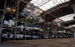 Barcos no armazenamento de cremalheira Imagens de Stock
