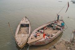 Barcos no cais Fotografia de Stock